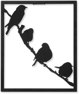 Fåglar på gren
