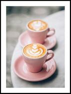 Rosa kaffekoppar